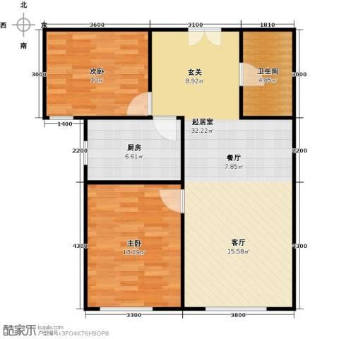 维多利大商城2室0厅1卫1厨92.00㎡户型图