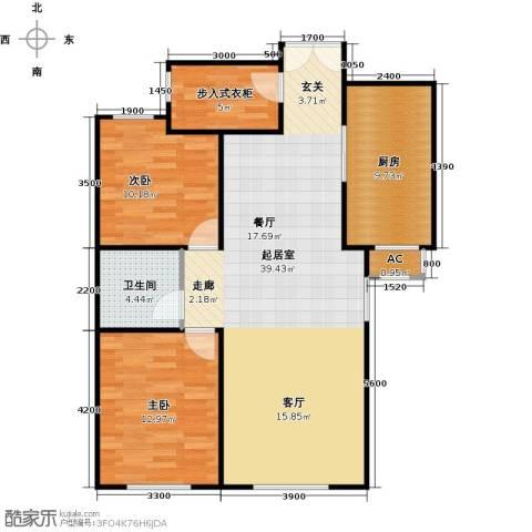 维多利大商城2室0厅1卫1厨113.00㎡户型图