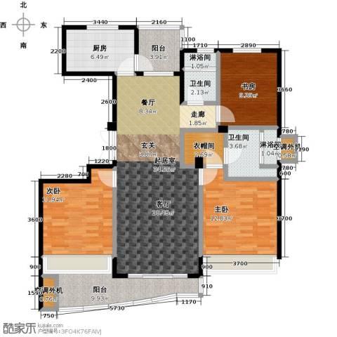 晴湾3室0厅2卫1厨128.00㎡户型图