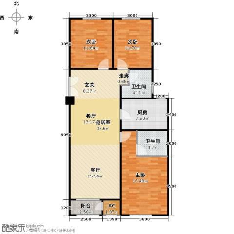 维多利大商城3室0厅2卫1厨137.00㎡户型图