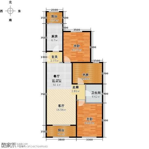 维多利大商城3室0厅1卫1厨116.00㎡户型图
