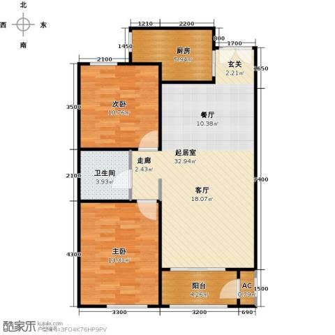 维多利大商城2室0厅1卫1厨101.00㎡户型图