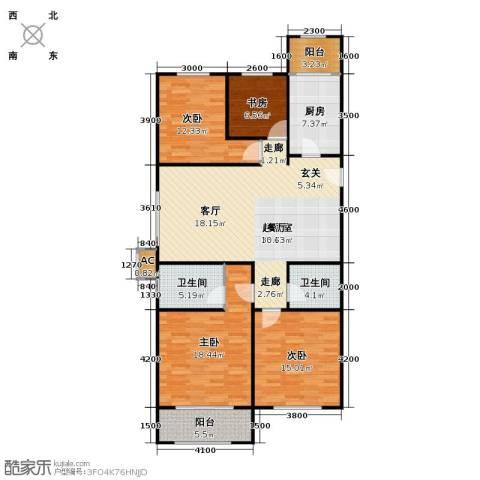 维多利大商城4室0厅2卫1厨160.00㎡户型图
