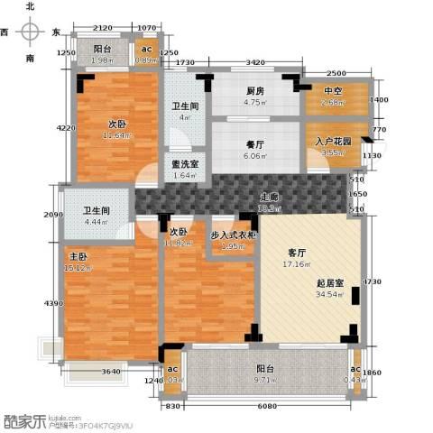 中节能生态岛3室0厅2卫1厨128.00㎡户型图