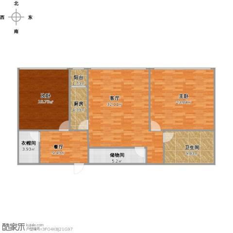 新天地小区2室2厅1卫1厨146.00㎡户型图