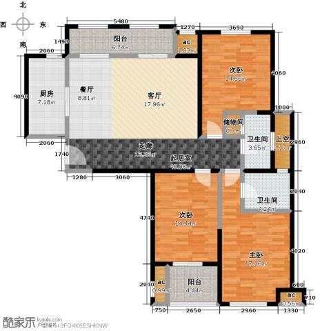 花好月圆3室0厅2卫1厨145.00㎡户型图