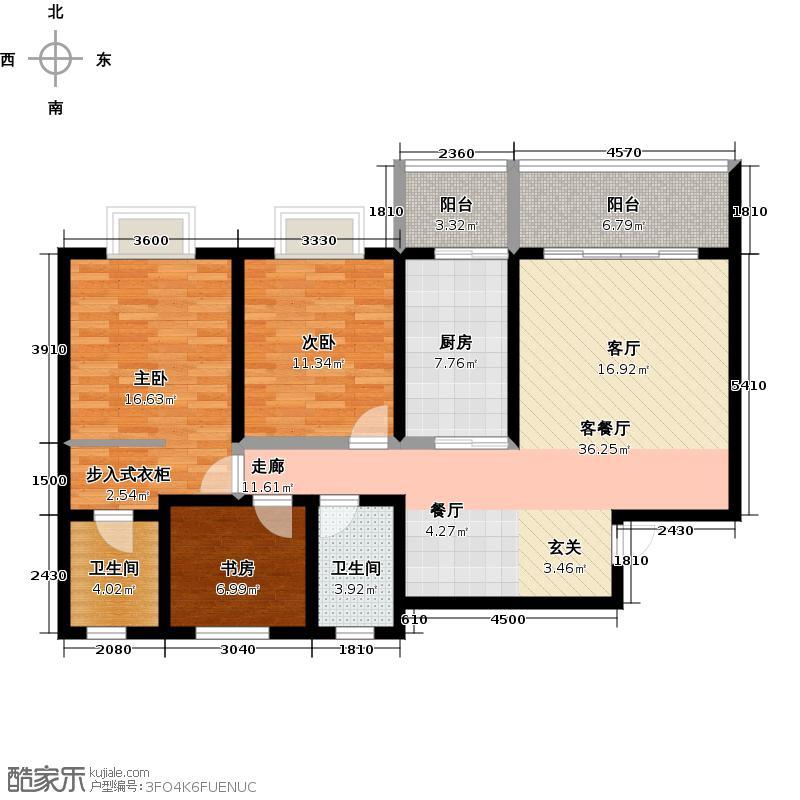 都市阳光都市阳光3室2厅2卫户型3室2厅2卫