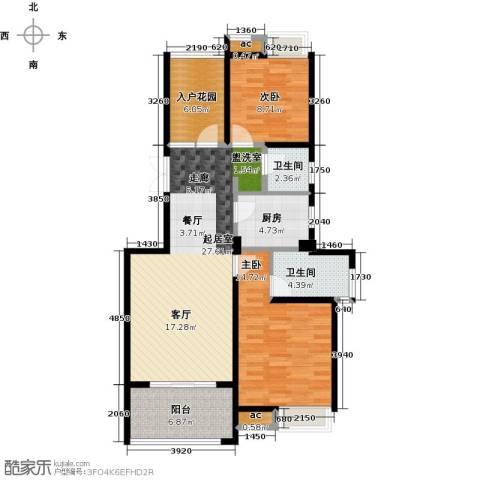 缇香一品2室0厅2卫1厨89.00㎡户型图