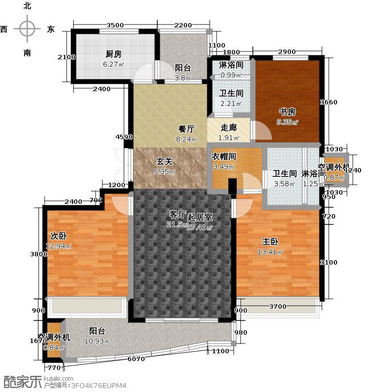 晴湾128.00㎡128㎡,3室2厅2卫户型3室2厅2卫
