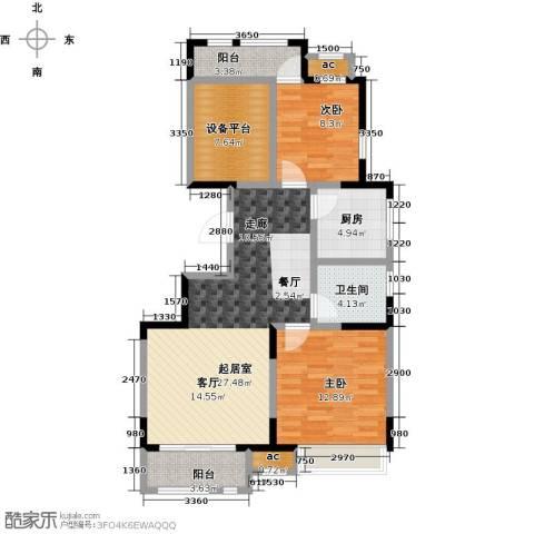 万科金域华府锦苑2室0厅1卫1厨95.00㎡户型图