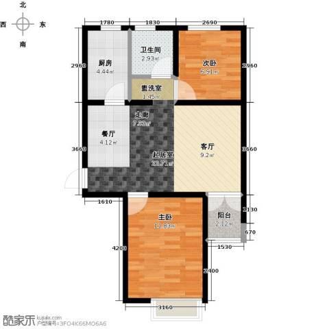 金乾公馆2室0厅1卫1厨76.00㎡户型图