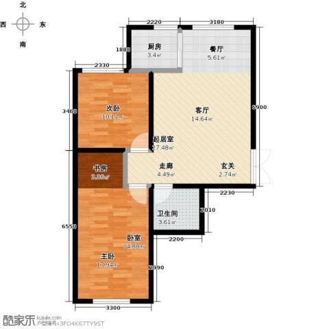 世纪春天2室0厅1卫1厨87.00㎡户型图