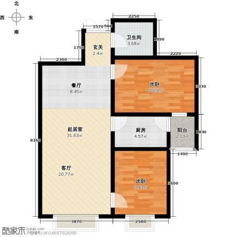 世纪春天2室0厅1卫1厨90.00㎡户型图