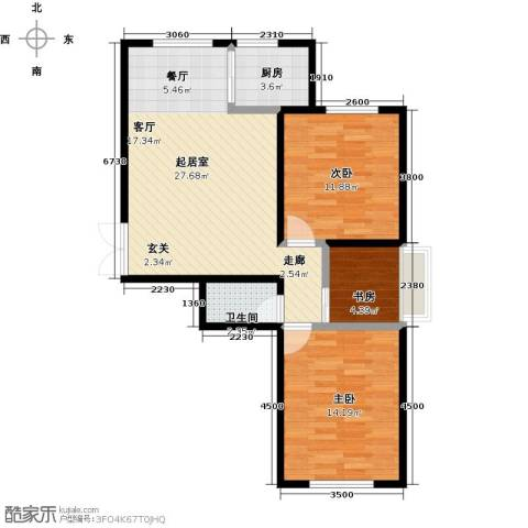 世纪春天3室0厅1卫1厨100.00㎡户型图