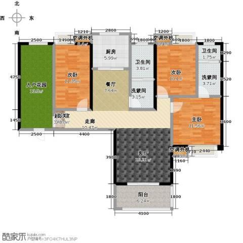 康湾一品3室0厅2卫1厨153.00㎡户型图