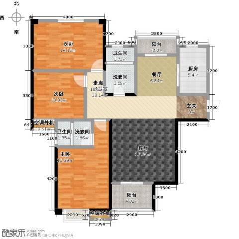 康湾一品3室0厅2卫1厨143.00㎡户型图