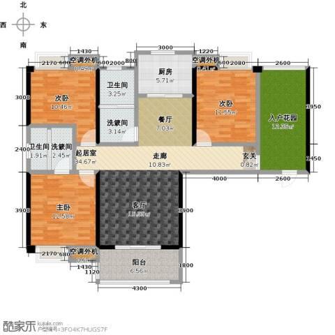 康湾一品3室0厅2卫1厨152.00㎡户型图