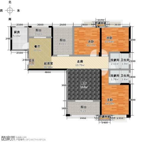 康湾一品3室0厅2卫1厨149.00㎡户型图