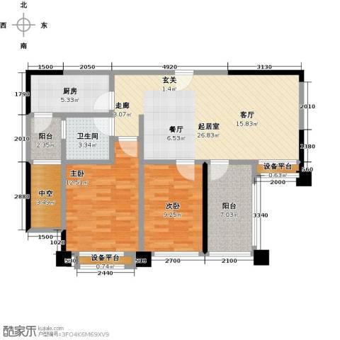 保利香槟国际2室0厅1卫1厨90.00㎡户型图