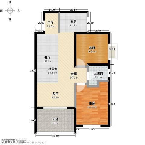 海泽雅居2室0厅1卫0厨96.00㎡户型图