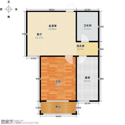 丽景盛园1室0厅1卫1厨63.00㎡户型图