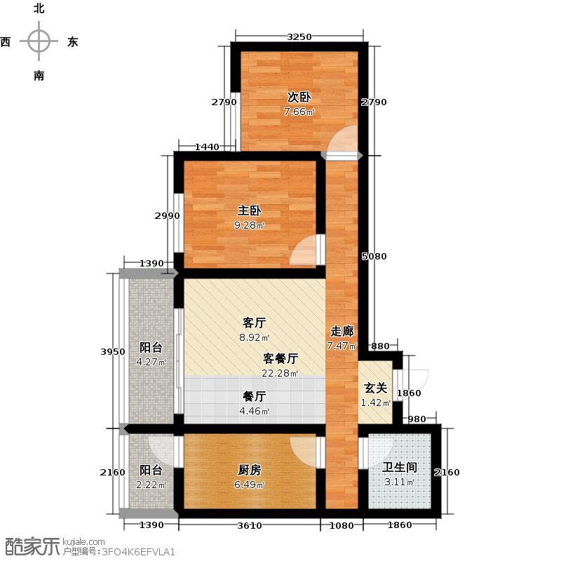 都市阳光都市阳光2室1厅1卫户型2室1厅1卫