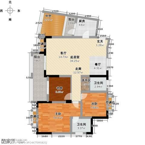 黄河畔岛3室0厅2卫1厨135.00㎡户型图