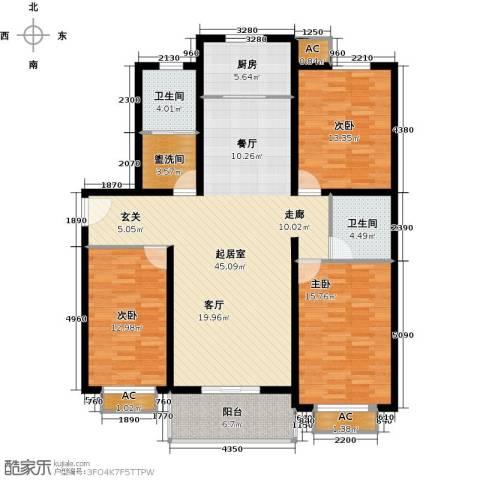 隶都景苑3室0厅2卫1厨130.00㎡户型图