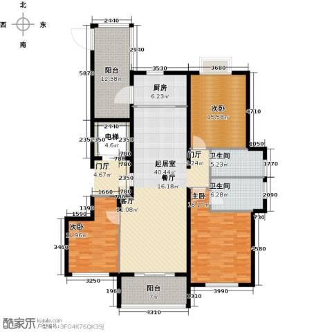 华明星海湾3室0厅2卫1厨139.00㎡户型图