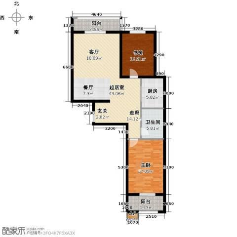 隶都景苑2室0厅1卫1厨106.00㎡户型图