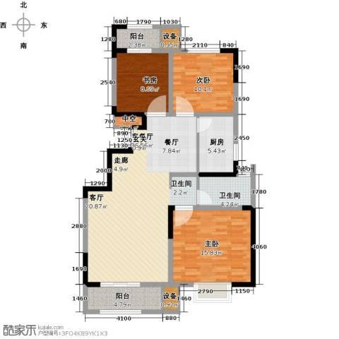 荣御华府3室1厅1卫1厨105.00㎡户型图