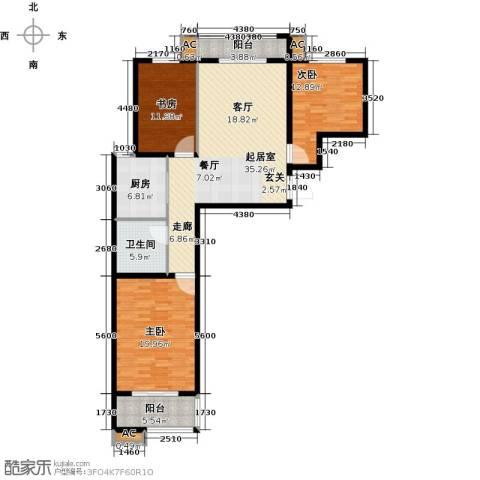 隶都景苑3室0厅1卫1厨117.00㎡户型图