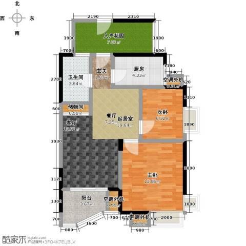 蓝湾星宸花园2室0厅1卫1厨75.00㎡户型图