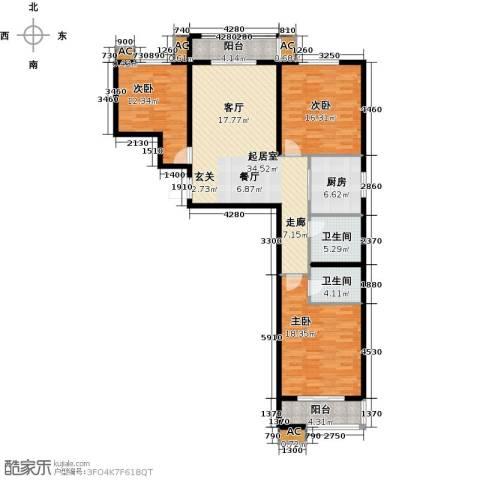 隶都景苑3室0厅2卫1厨121.00㎡户型图