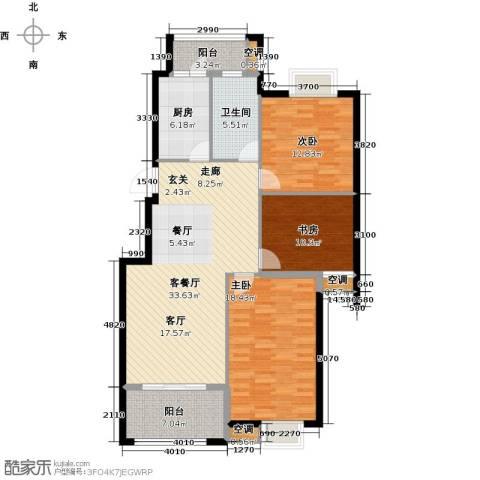 香水郡3室1厅1卫1厨138.00㎡户型图