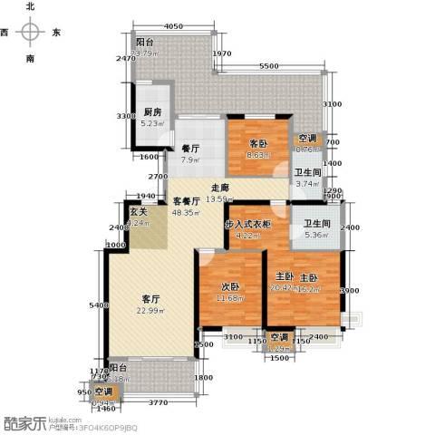 沂龙湾慧园3室1厅2卫1厨194.00㎡户型图