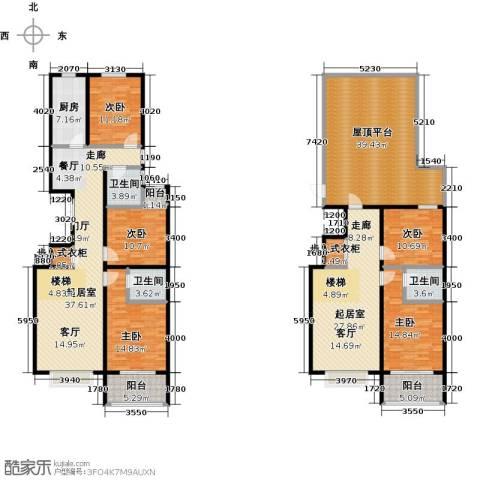 华丽家族5室0厅3卫1厨224.00㎡户型图