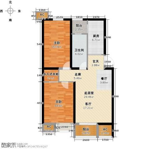 九号国际城2室0厅1卫1厨94.00㎡户型图