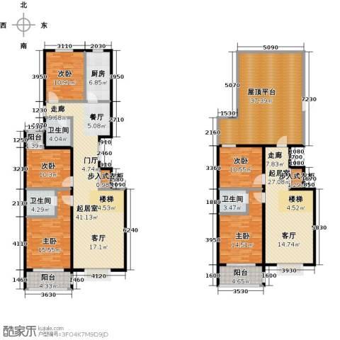 华丽家族5室0厅3卫1厨223.00㎡户型图