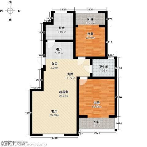 五洲太阳城2室0厅1卫1厨95.00㎡户型图
