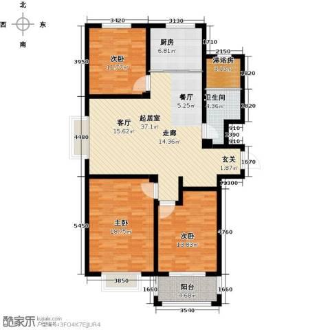 中房青年城3室0厅1卫1厨114.00㎡户型图