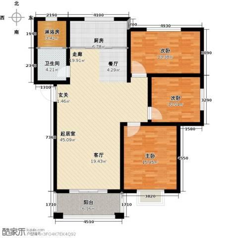 中房青年城3室0厅1卫1厨118.00㎡户型图