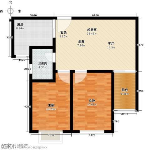 中房青年城2室0厅1卫1厨86.00㎡户型图