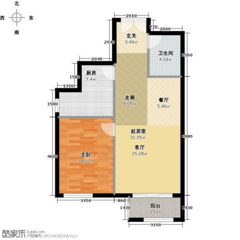 天昱自由度1室0厅1卫1厨69.00㎡户型图