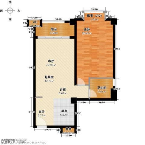 恒大雅苑1室0厅1卫0厨87.00㎡户型图