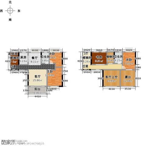 ��佳苑4室0厅2卫1厨168.43㎡户型图