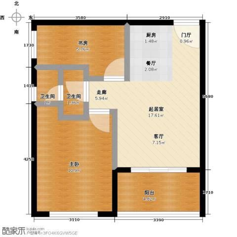 海泽雅居2室0厅2卫0厨60.00㎡户型图