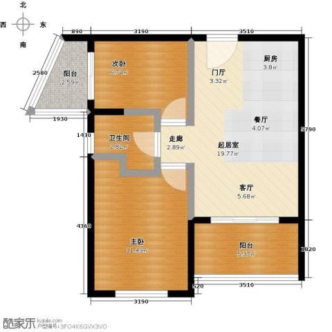 海泽雅居2室0厅1卫0厨70.00㎡户型图