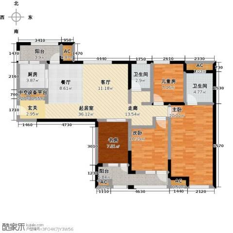 万科城花�苑4室0厅2卫1厨143.00㎡户型图