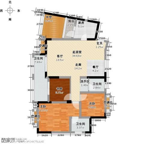 黄河畔岛3室0厅3卫1厨136.00㎡户型图